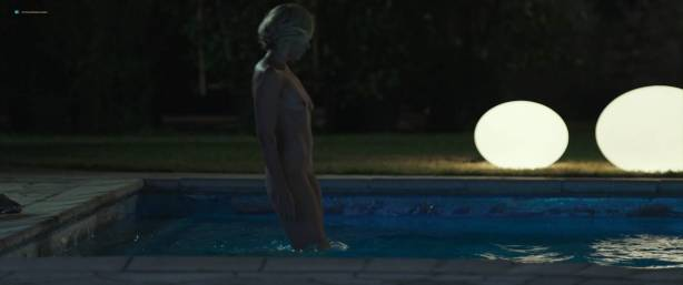 Toni Collette nude bush and boobs while skinny dipping - Madame (2017) HD 1080p WEB (10)