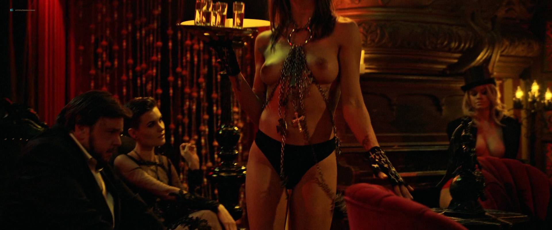 Jesse Sullivan nude topless Cortney Palm and others nude topless too - American Satan (2017) HD 1080p Web (11)