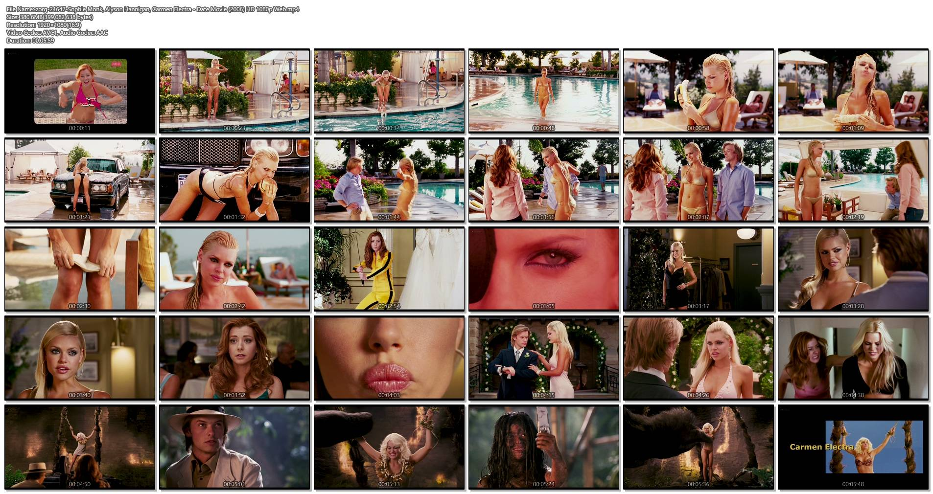 Sophie Monk hot and sexy Alyson Hannigan hot Carmen Electra sexy and funny - Date Movie (2006) HD 1080p Web (1)
