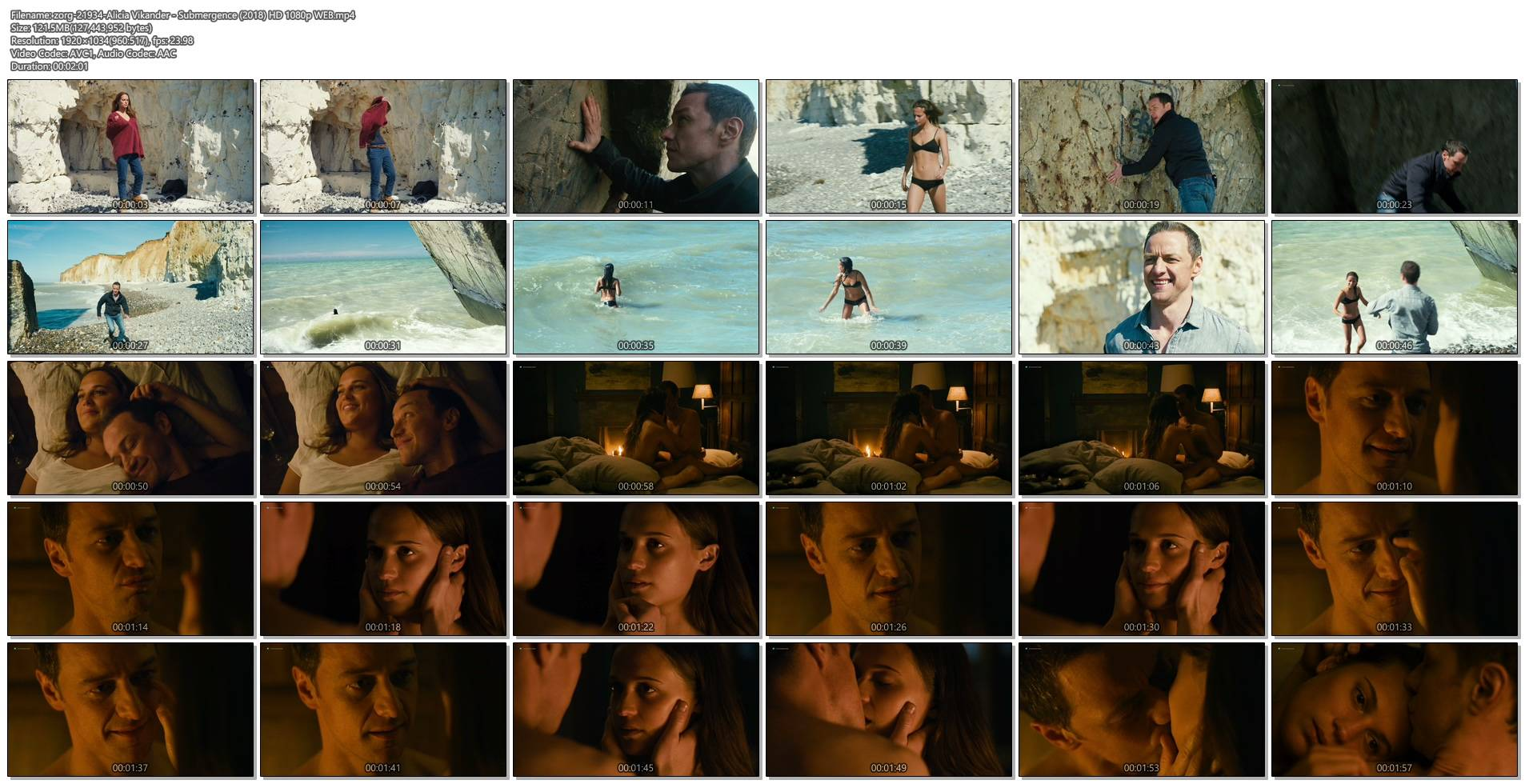Alicia Vikander hot bikini and side boob - Submergence (2018) HD 1080p WEB (1)