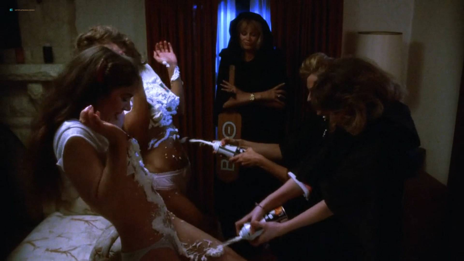 Brinke Stevens nude full frontal Michelle Bauer nude sex - Sorority Babes in the Slimeball Bowl-O-Rama (1988) HD 1080p (15)