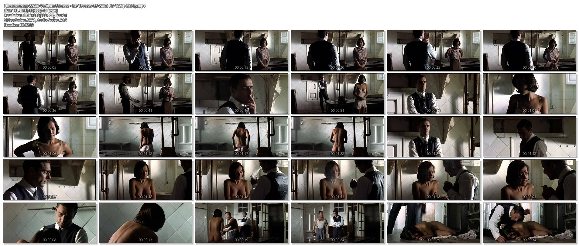 Verónica Sánchez nude topless and butt - Las 13 rosas (ES-2007) HD 1080p BluRay (1)