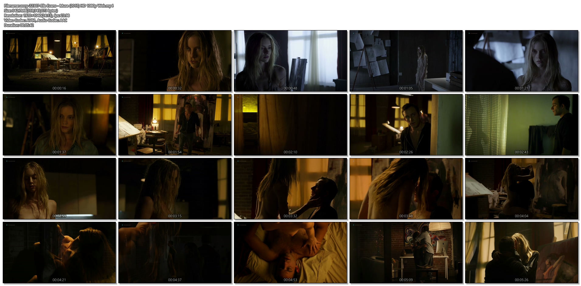 Elle Evans nude topless and hot sex - Muse (2017) HD 1080p Web (1)