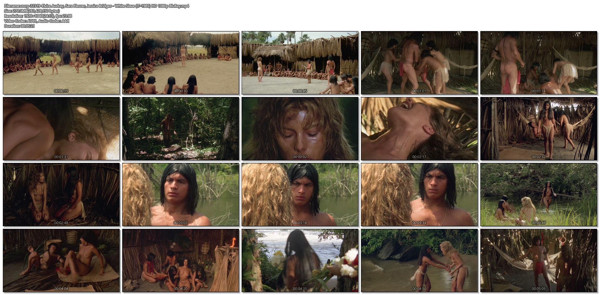 Elvire Audray nude Sara Fleszer, Jessica Bridges all nude full frontal - White Slave (IT-1985) HD 1080p BluRay (1)