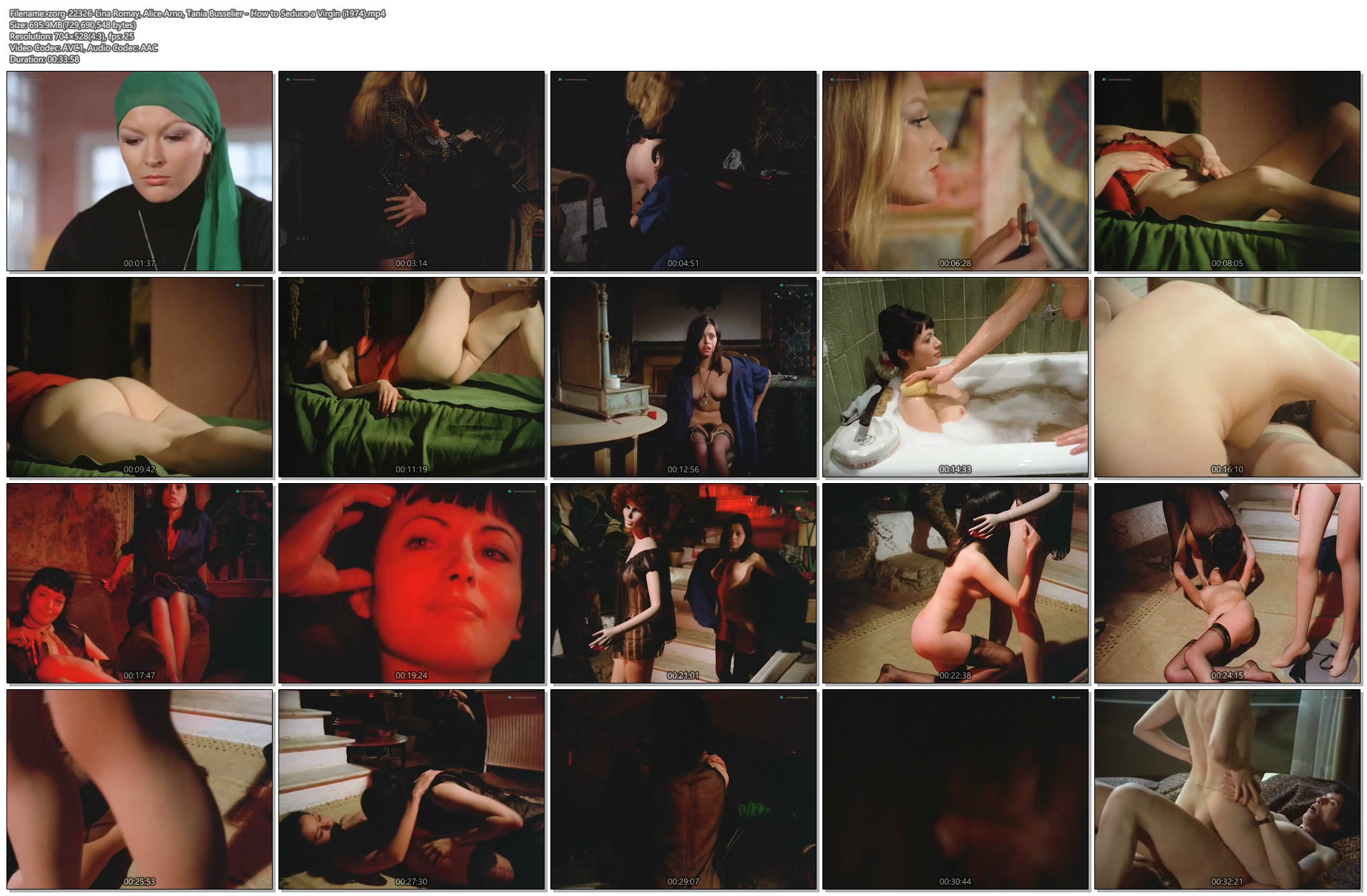 Lina Romay nude full frontal Alice Arno and Tania Busselier nude sex - How to Seduce a Virgin (1974) (1)