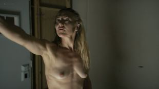 Dominique Swain nude butt and topless - Nazi Overlord (2018) HD 1080p