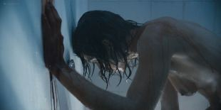 Natalia Tena nude sideboob in the shower - Origin s01e10 (2018) HD 1080p