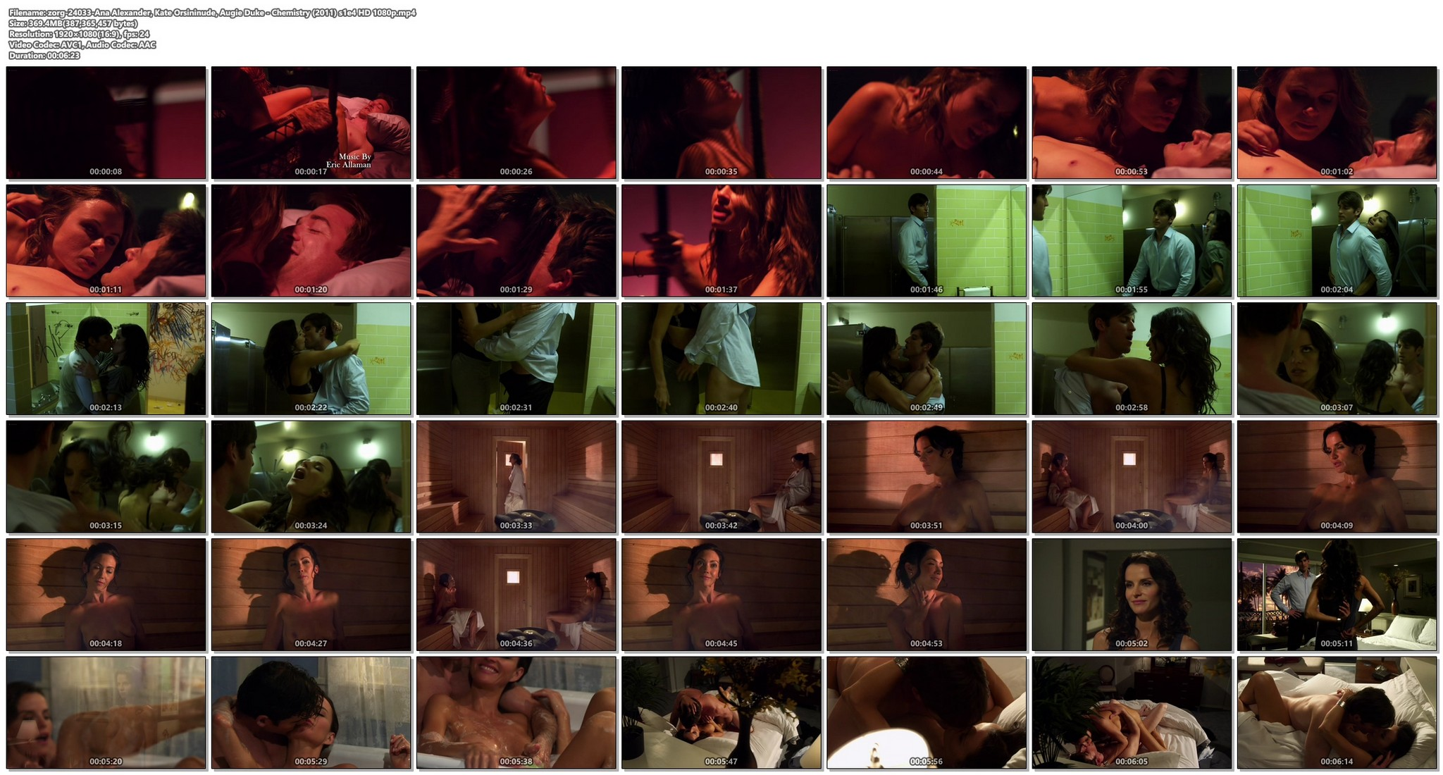 Ana Alexander nude and hot sex and Augie Duke nude - Chemistry (2011) s1e4 HD 1080p (1)
