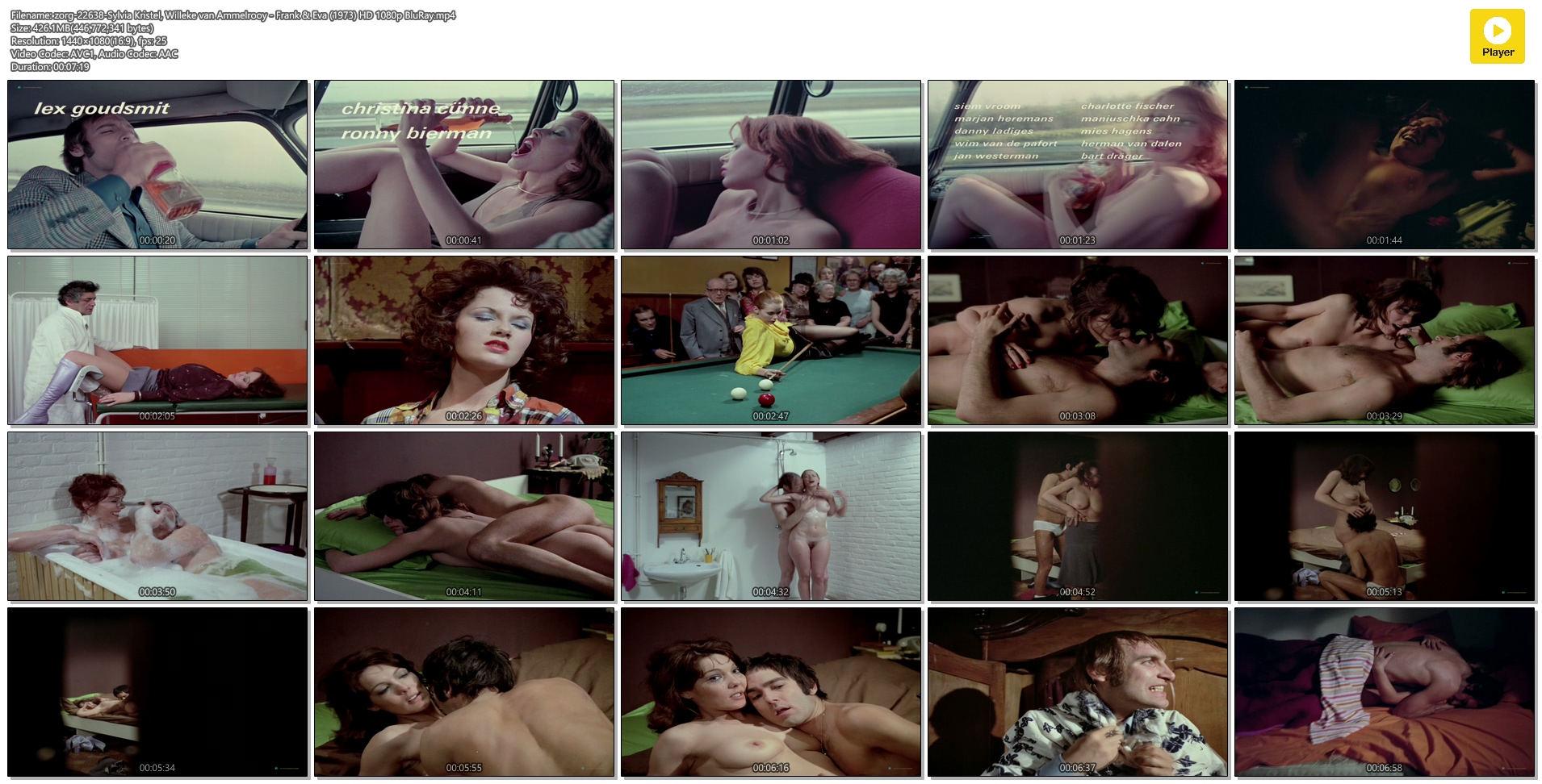Sylvia Kristel nude full frontal Willeke van Ammelrooy nude sex and bush - Frank & Eva (NL-1973) HD 1080p BluRay (1)