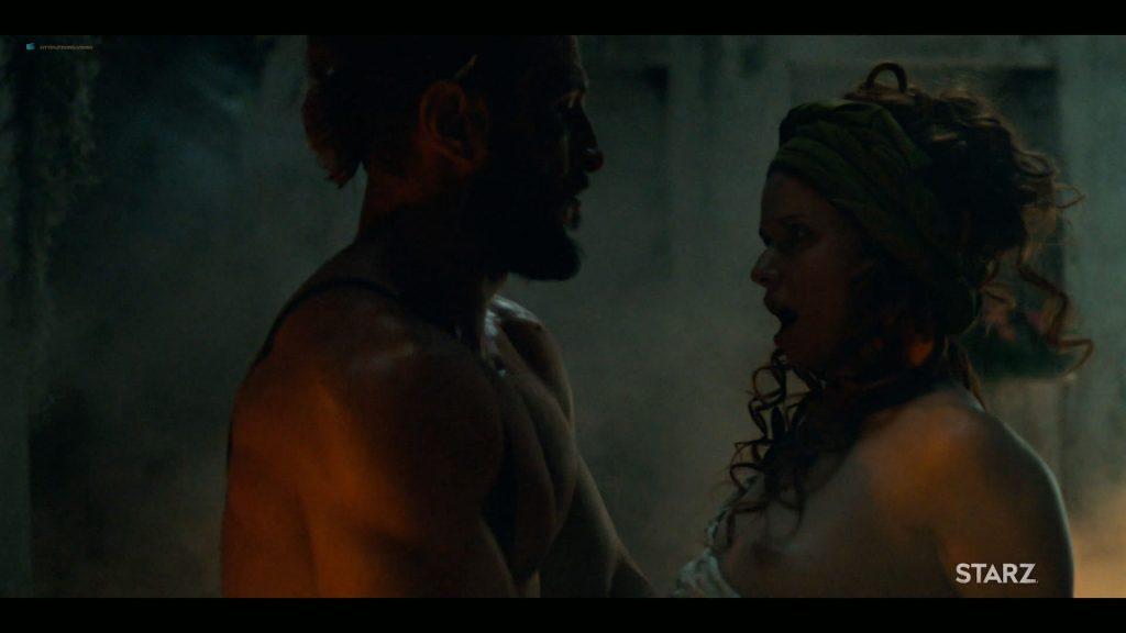 Emily Browning nude hot sex Hani Furstenberg nude sex too - American Gods (2019) s2e5 HD 1080p (10)