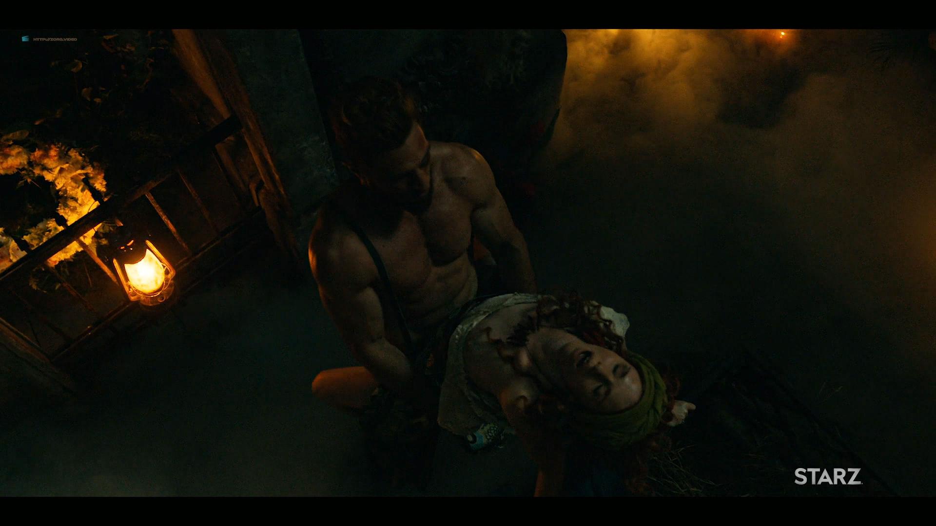 Emily Browning nude hot sex Hani Furstenberg nude sex too - American Gods (2019) s2e5 HD 1080p (6)