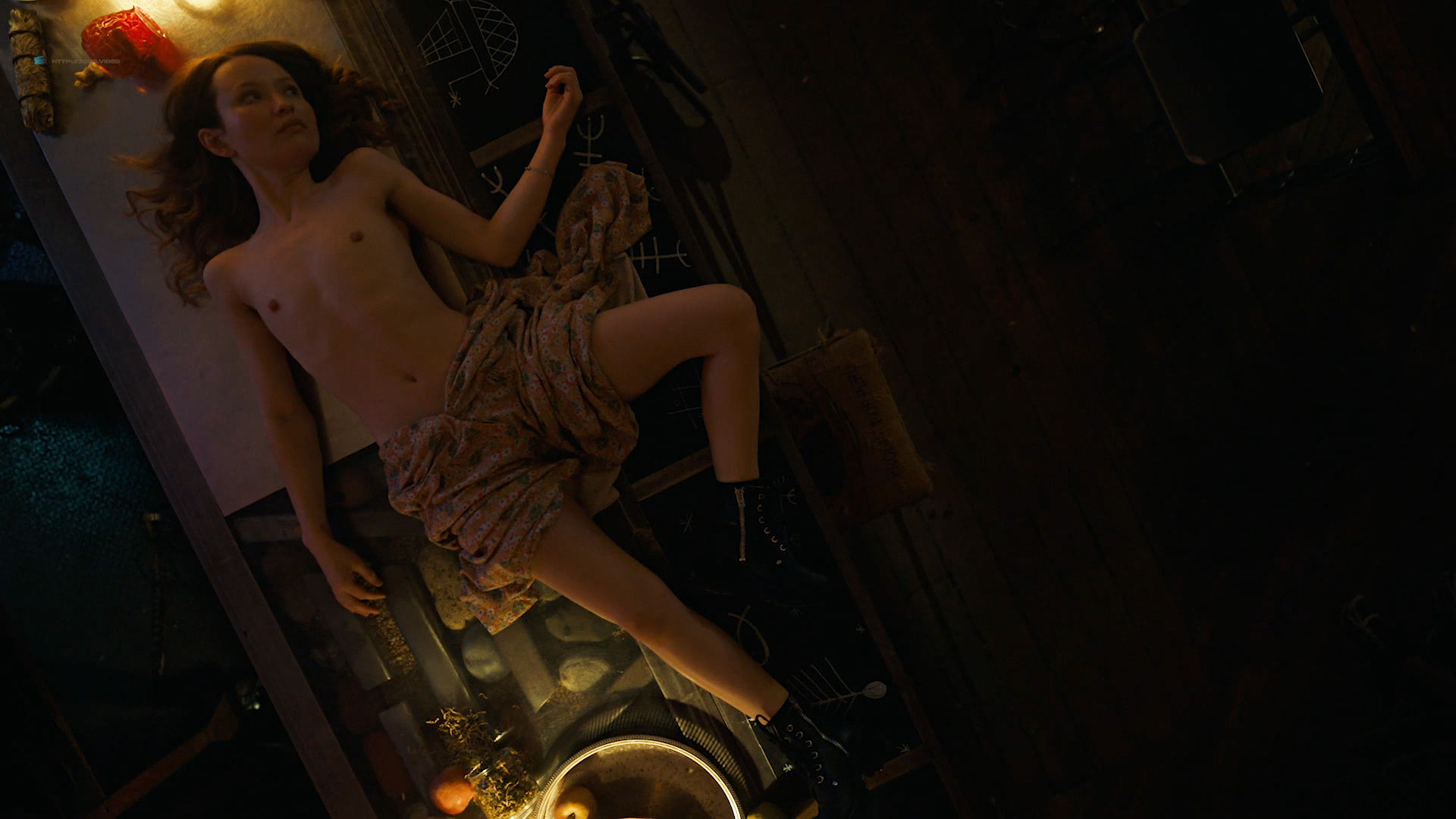 Emily Browning nude hot sex Hani Furstenberg nude sex too - American Gods (2019) s2e5 HD 1080p (3)