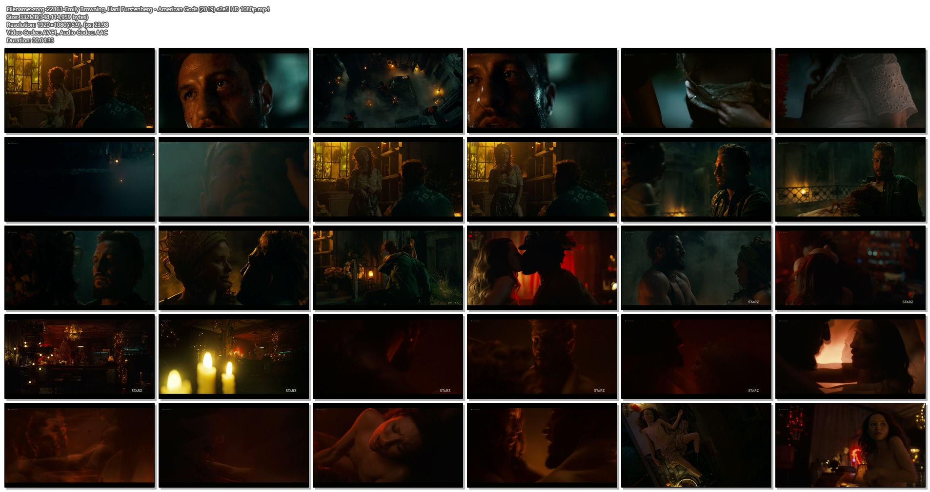 Emily Browning nude hot sex Hani Furstenberg nude sex too - American Gods (2019) s2e5 HD 1080p (1)