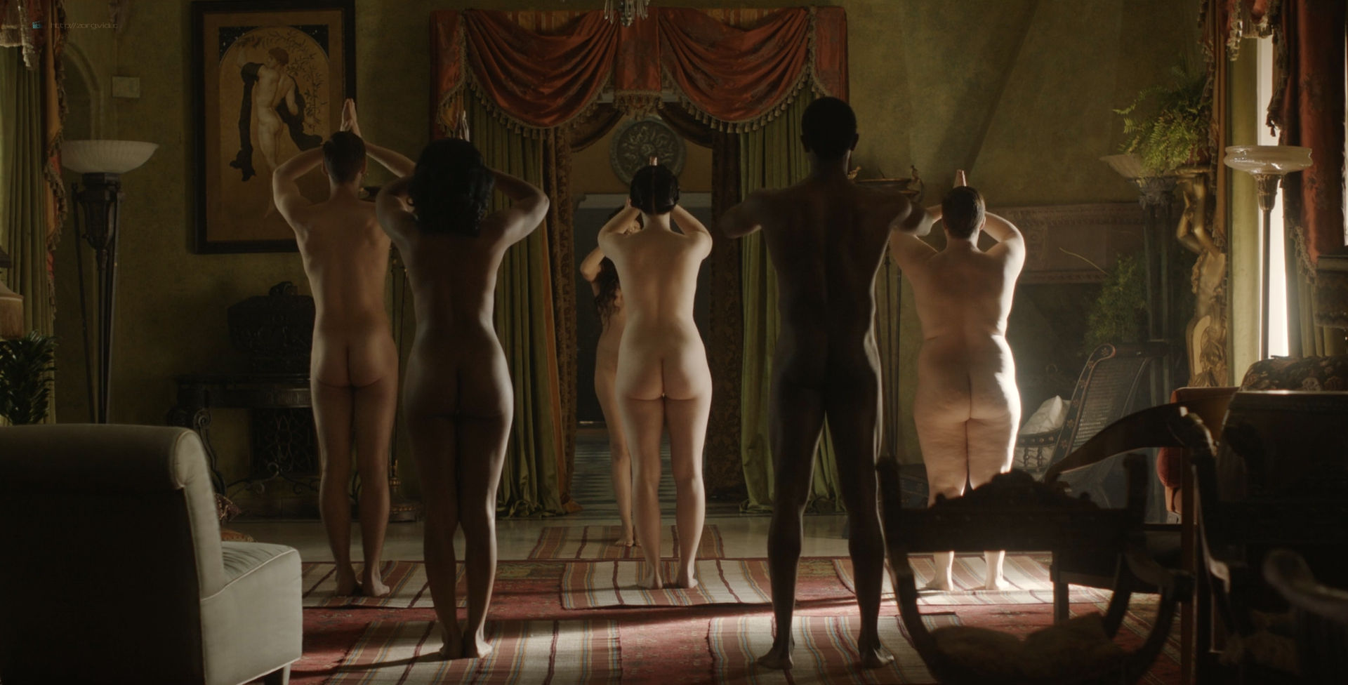 Amara Zaragoza nude topless Bella Heathcote hot orgy sex – Strange Angel (2018) s2e2 HD 1080p WEB (7)