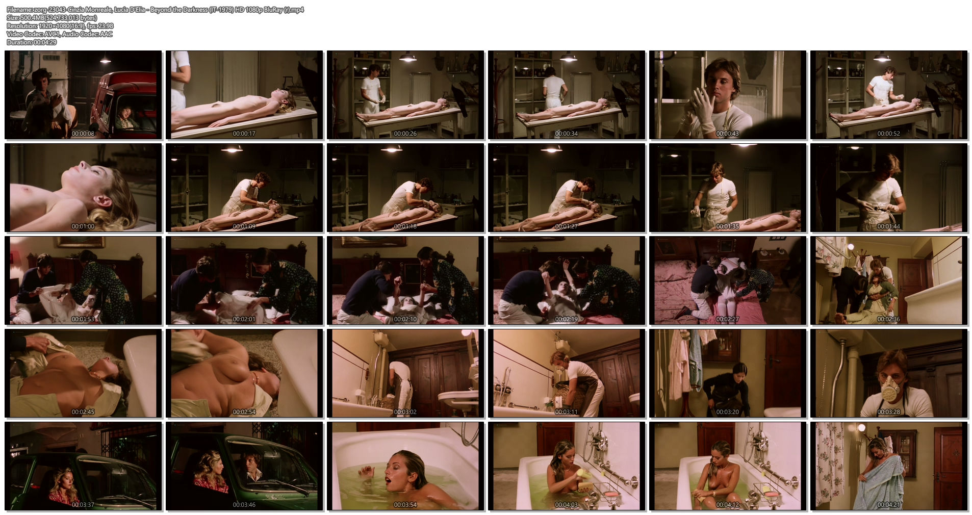 Cinzia Monreale nude full frontal Lucia D'Elia nude bush - Beyond the Darkness (IT-1979) HD 1080p BluRay (r) (1)
