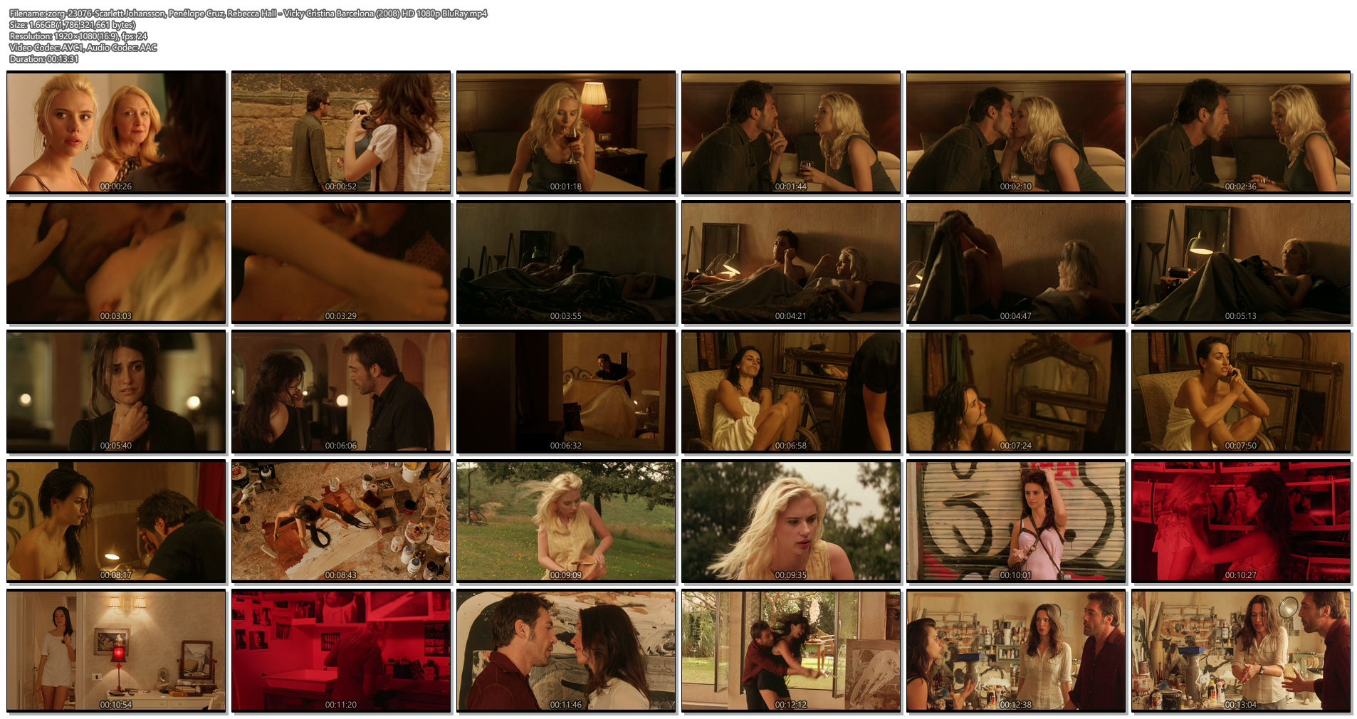 Scarlett Johansson hot Penélope Cruz and Rebecca Hall hot and sexy - Vicky Cristina Barcelona (2008) HD 1080p BluRay (1)