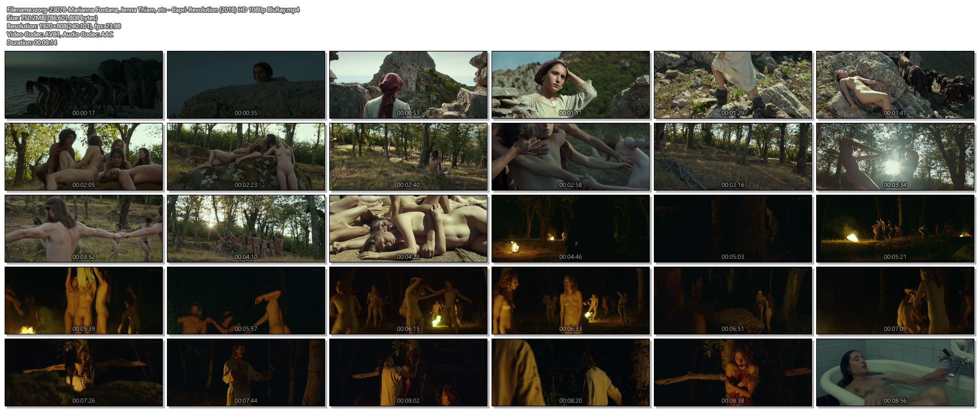 Marianna Fontana nude full frontal Jenna Thiam others nude - Capri-Revolution (2018) HD 1080p BluRay (1)