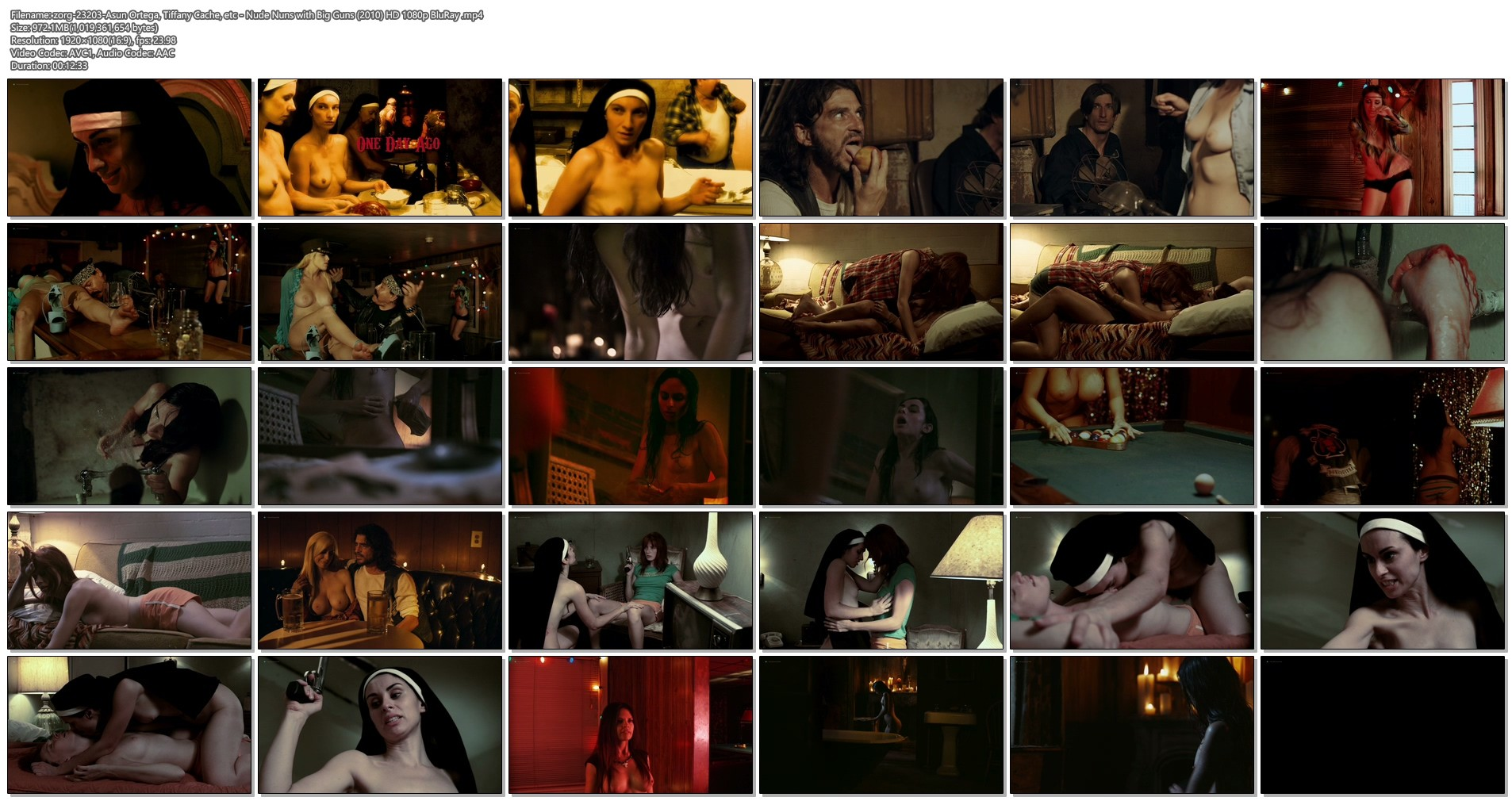 Asun Ortega nude Tiffany Cache and others nude full frontal and sex - Nude Nuns with Big Guns (2010) HD 1080p BluRay (1)