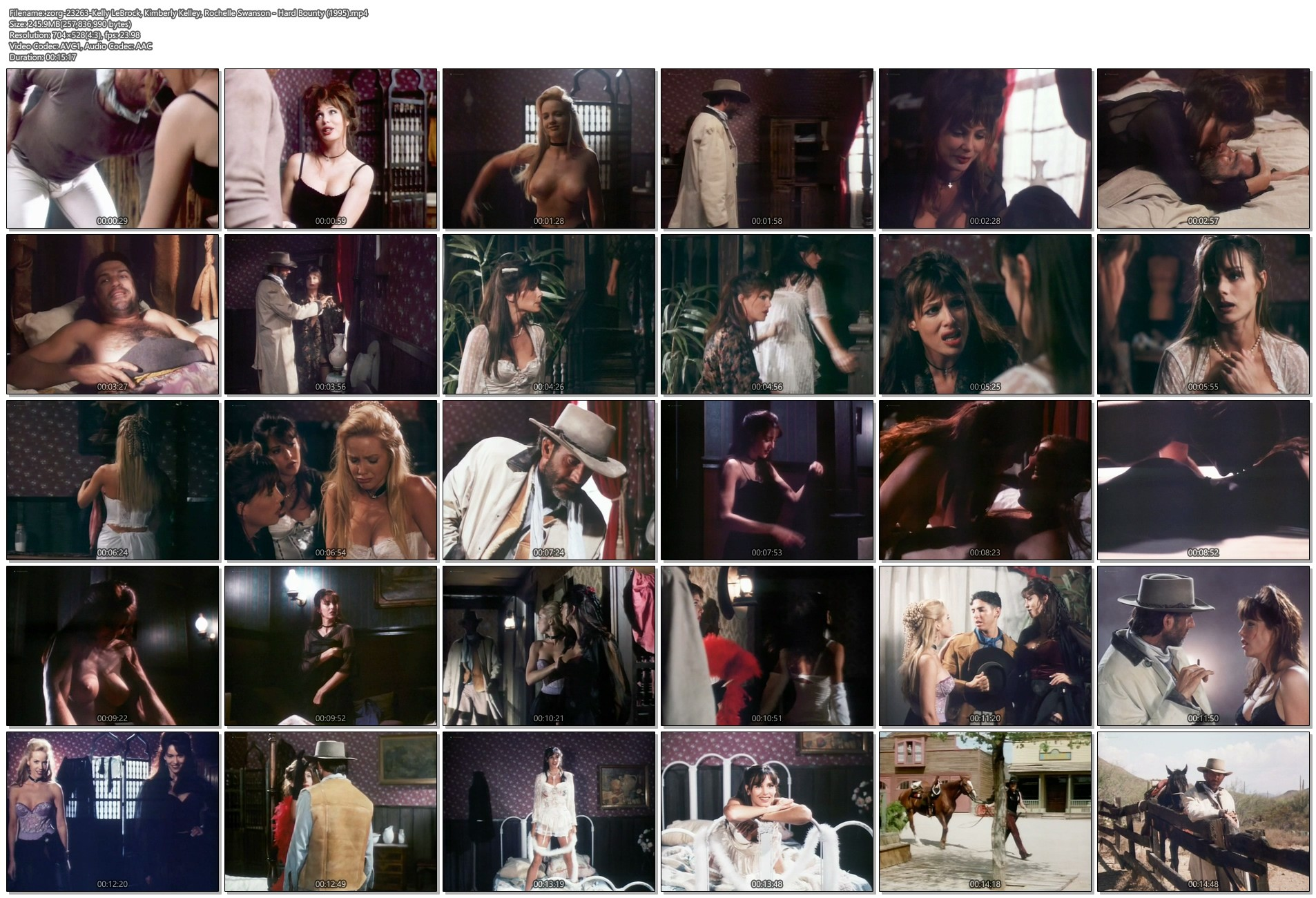 Kelly LeBrock hot Kimberly Kelley and Rochelle Swanson nude - Hard Bounty (1995) (1)