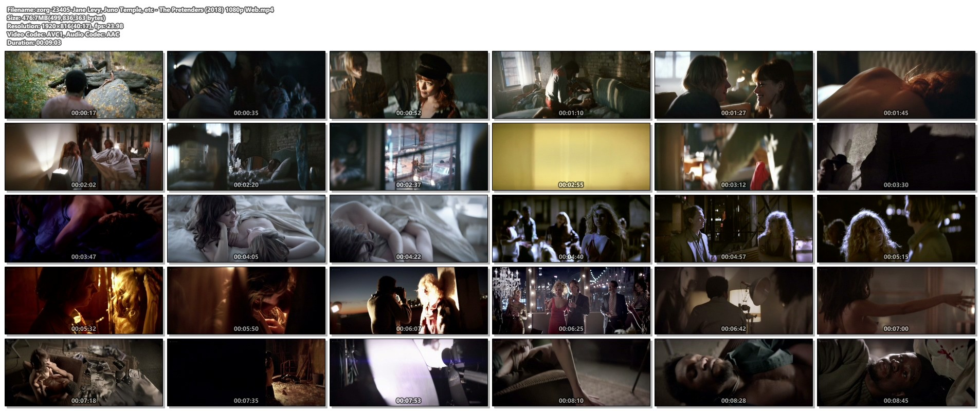 Jane Levy nude sideboob Juno Temple hot others nude - The Pretenders (2018) 1080p Web (1)