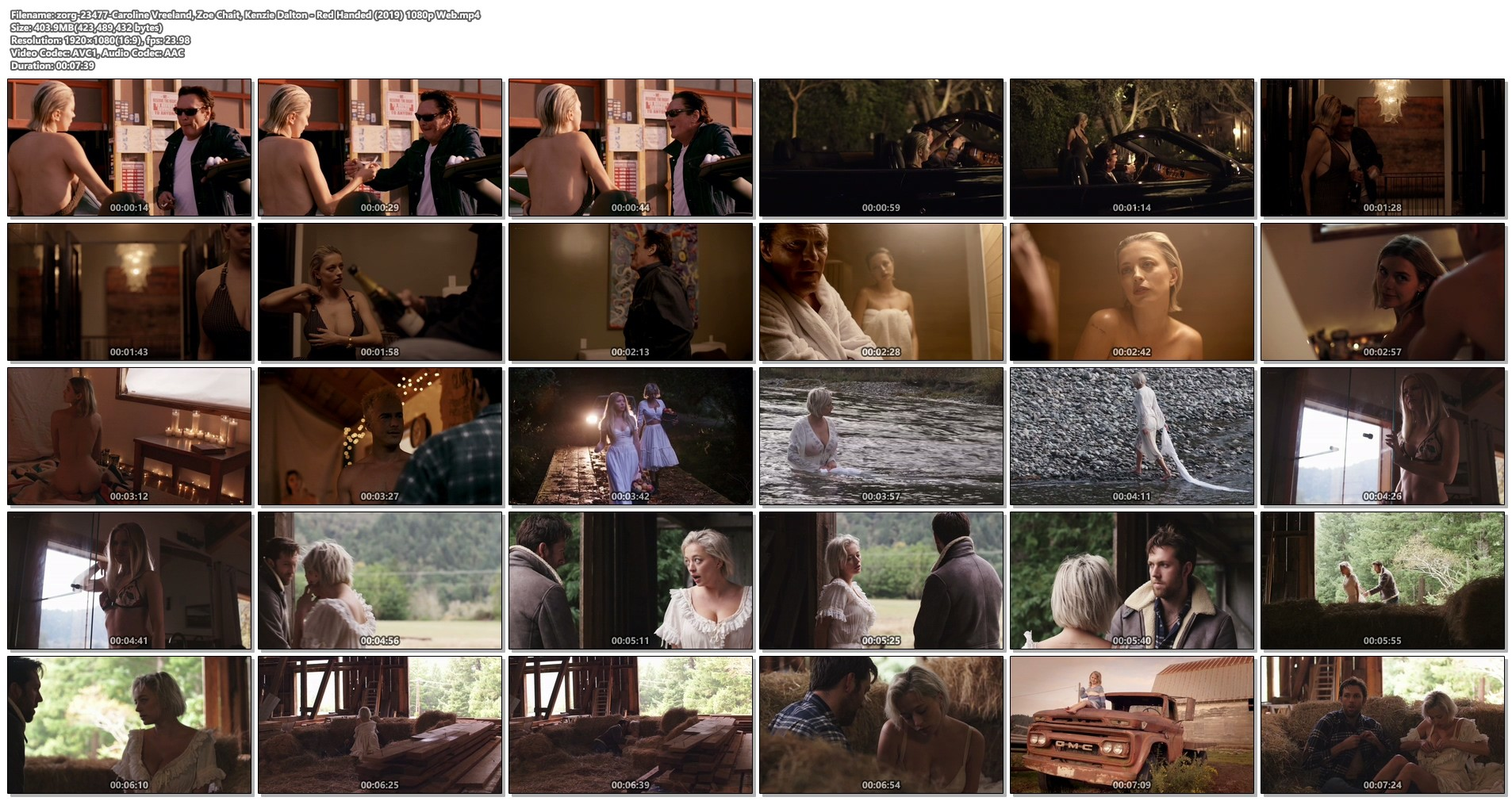 Caroline Vreeland busty see through Zoe Chait, Kenzie Dalton hot - Red Handed (2019) 1080p Web (1)