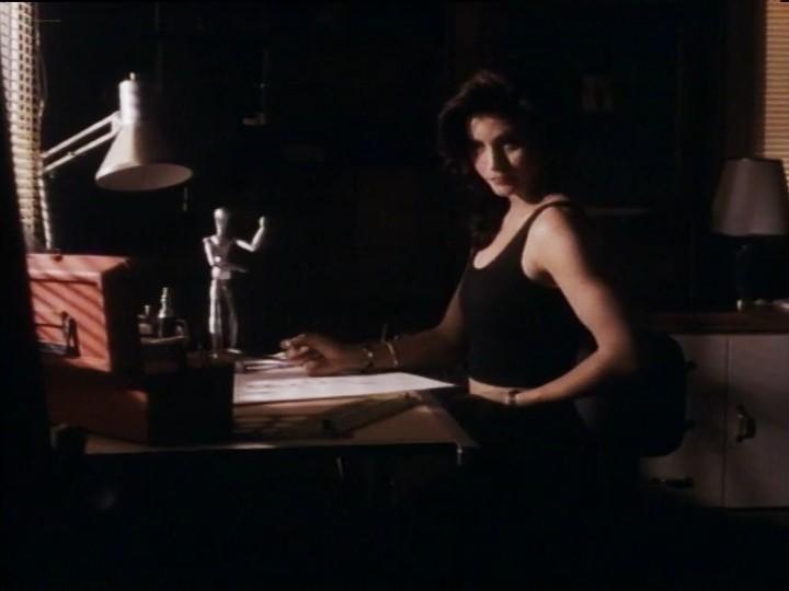 Courteney Cox nude nip slip and sex - Blue Desert (1991) (14)