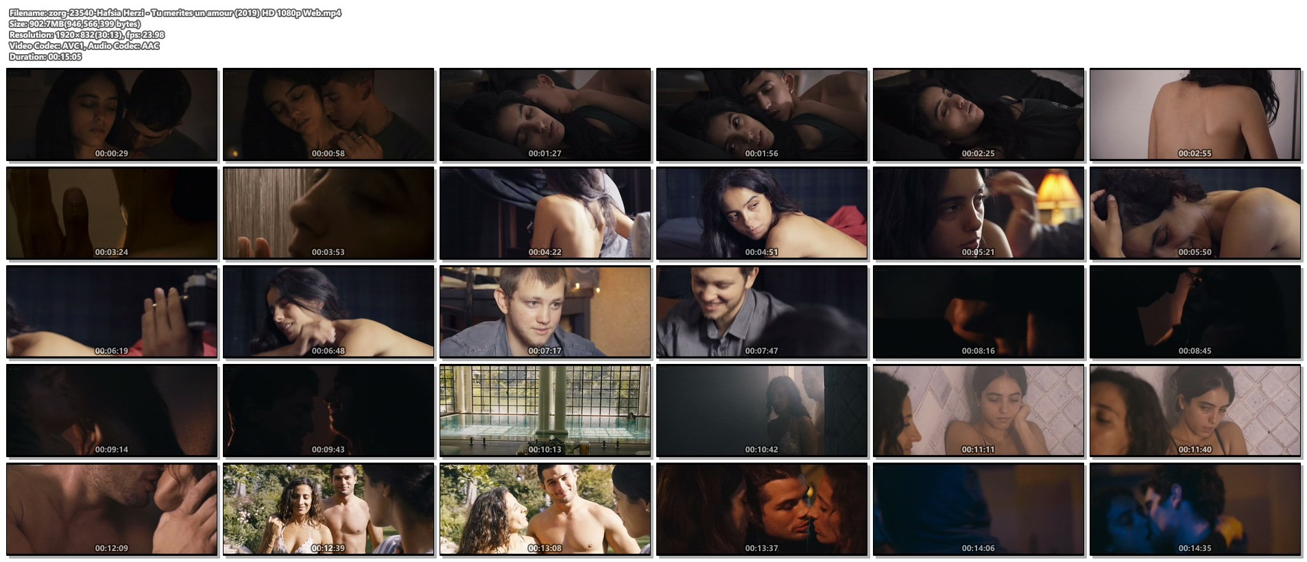 Hafsia Herzi hot Sophie Garagnon nude topless - Tu merites un amour (2019) HD 1080p Web (1)