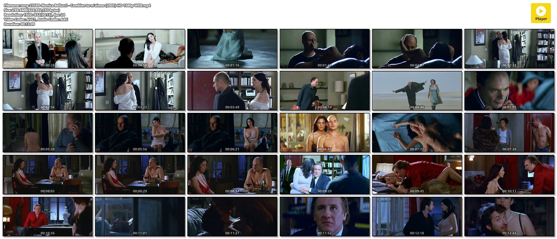Monica Bellucci nude and sex - Combien tu m'aimes (2005) HD 1080p WEB (1)