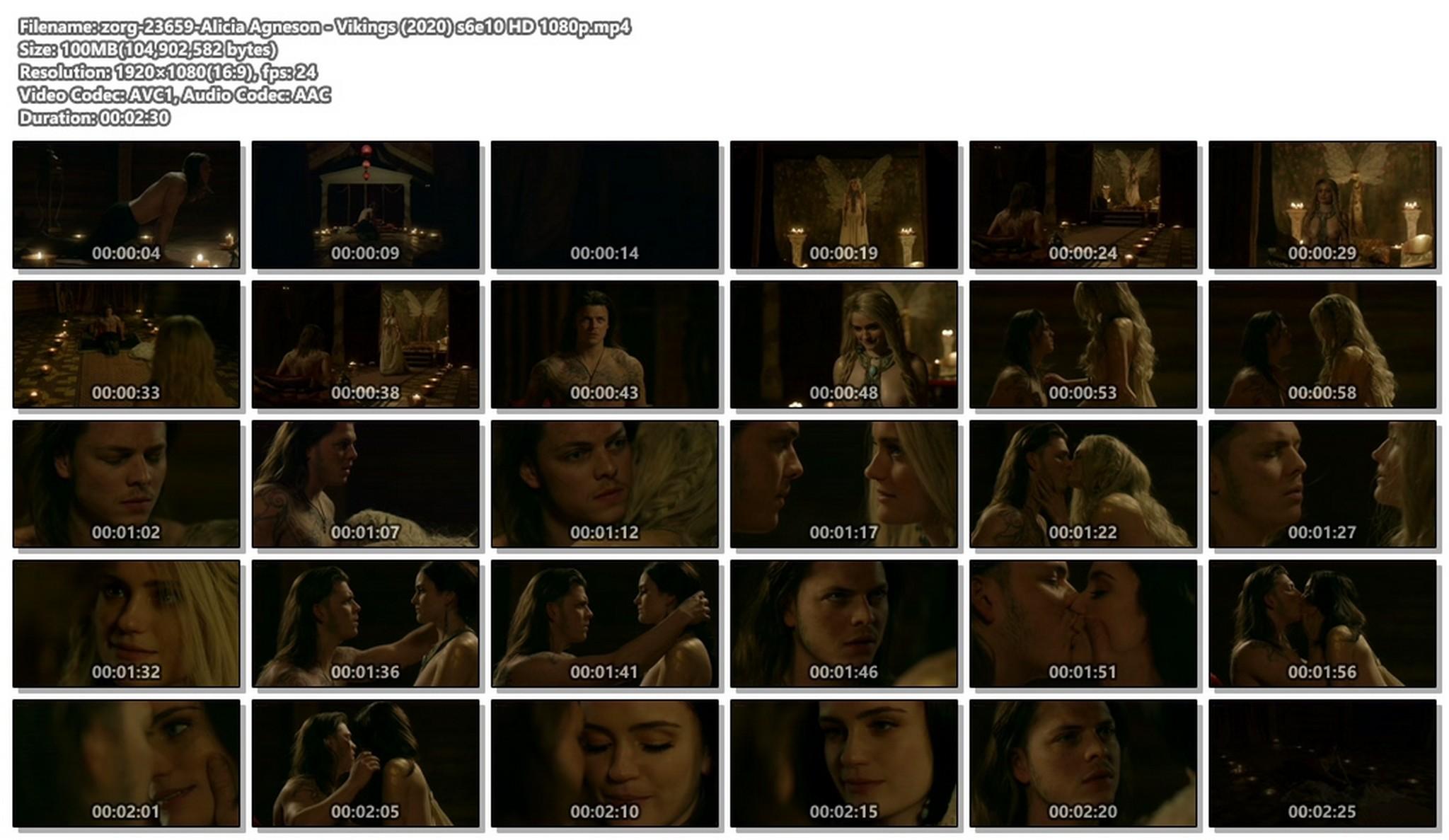 Alicia Agneson nude topless - Vikings (2020) s6e10 HD 1080p (1)