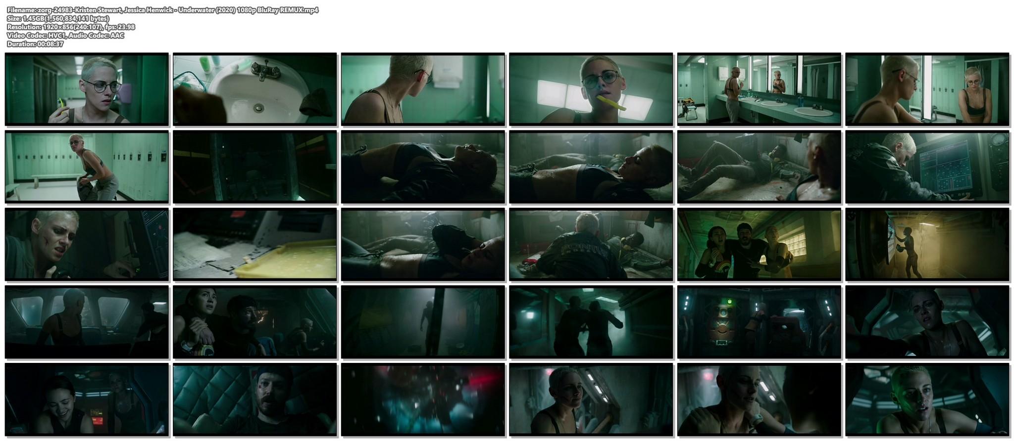 Kristen Stewart sexy Jessica Henwick hot Underwater 2020 HD 1080p BLuRay REMUX 19