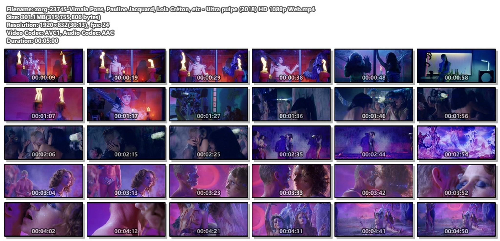 Vimala Pons nude Pauline Jacquard, Lola Créton asnd other nude too - Ultra pulpe (2018) HD 1080p Web (1)
