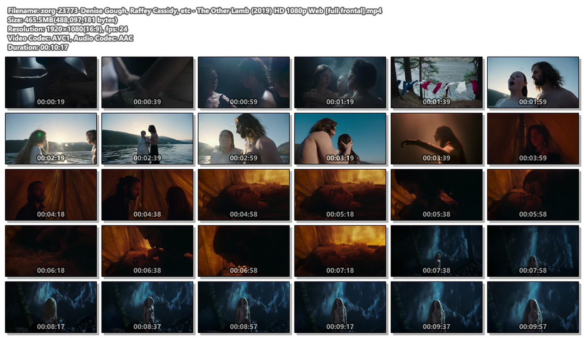 Denise Gough nude full frontal Raffey Cassidy sexy - The Other Lamb (2019) HD 1080p Web (1)