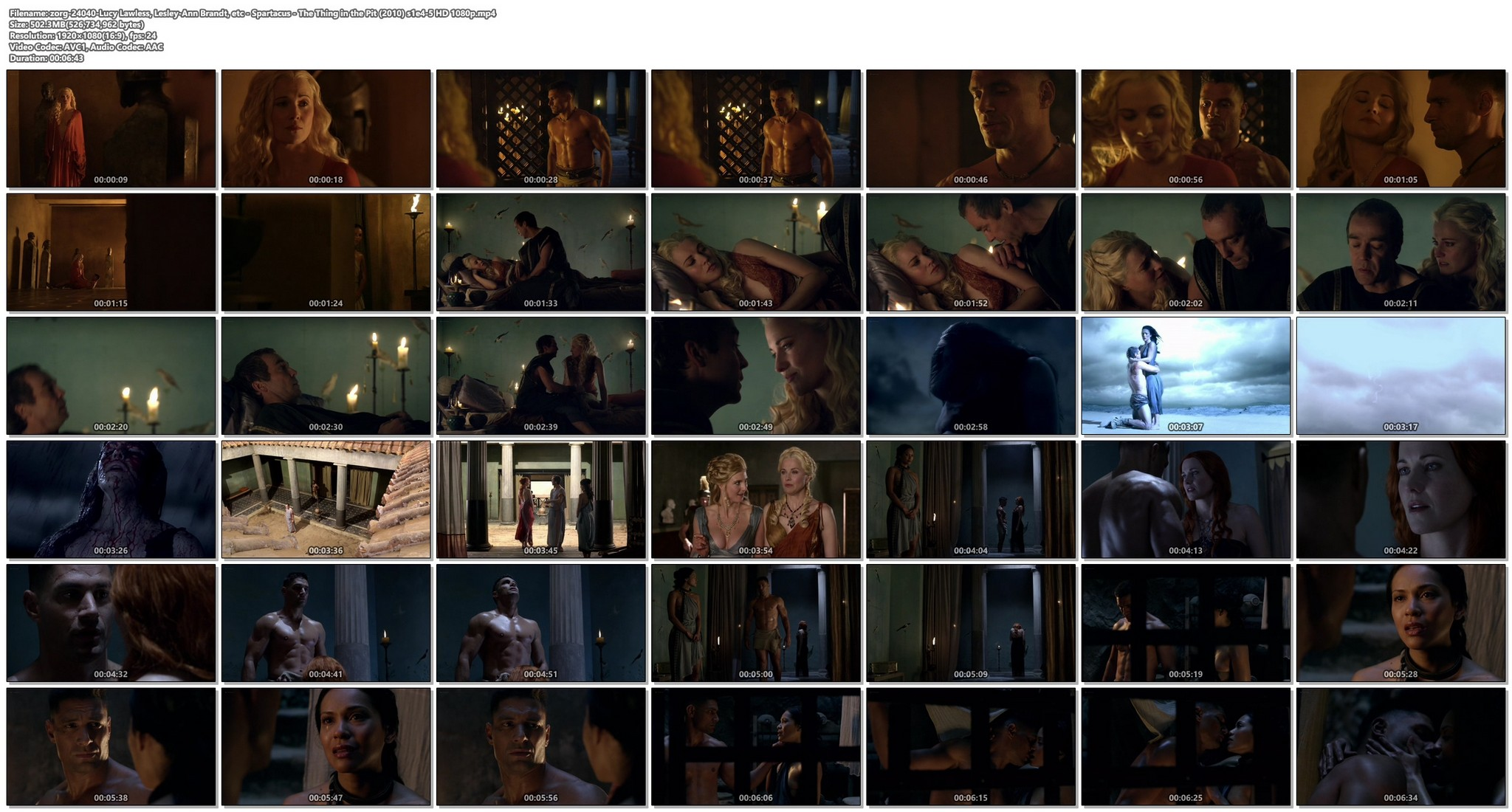 Lucy Lawless hot sex oral Lesley-Ann Brandt and others sexy - Spartacus - The Thing in the Pit (2010) s1e4-5 HD 1080p (1)