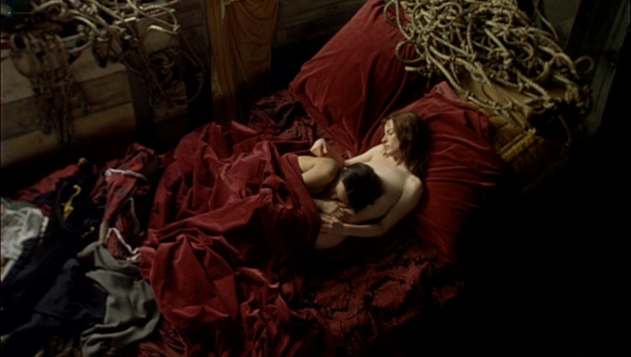 Pascale Bussières nude lesbian sex with Rachael Crawford - When Night Is Falling (1995) (6)