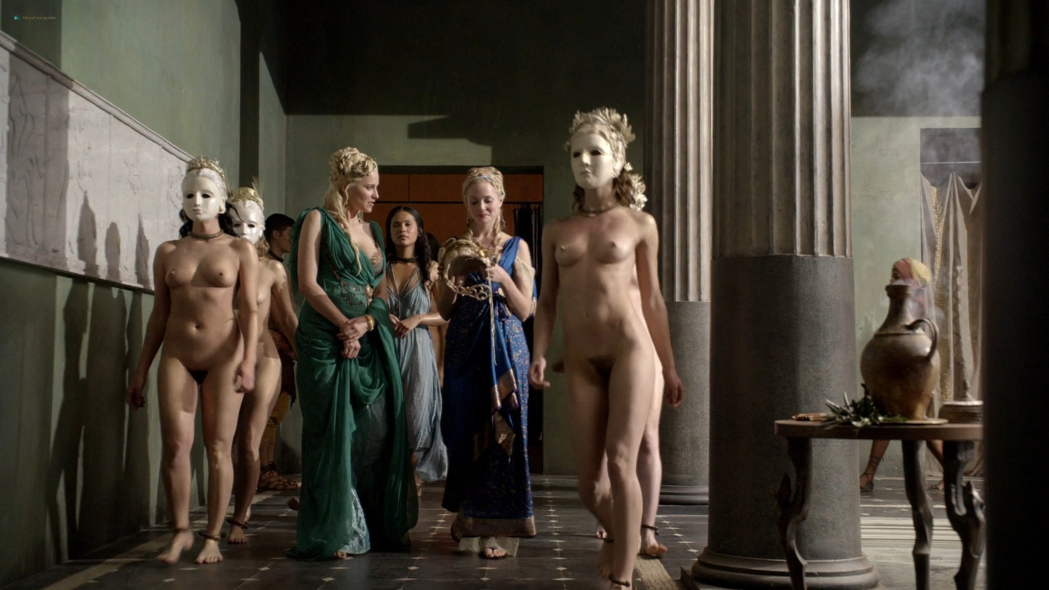 Lucy Lawless nude Katrina Law full-frontal Viva Bianca, etc nude - Spartacus (2010) Whore s1e9 HD 1080p BluRay (17)