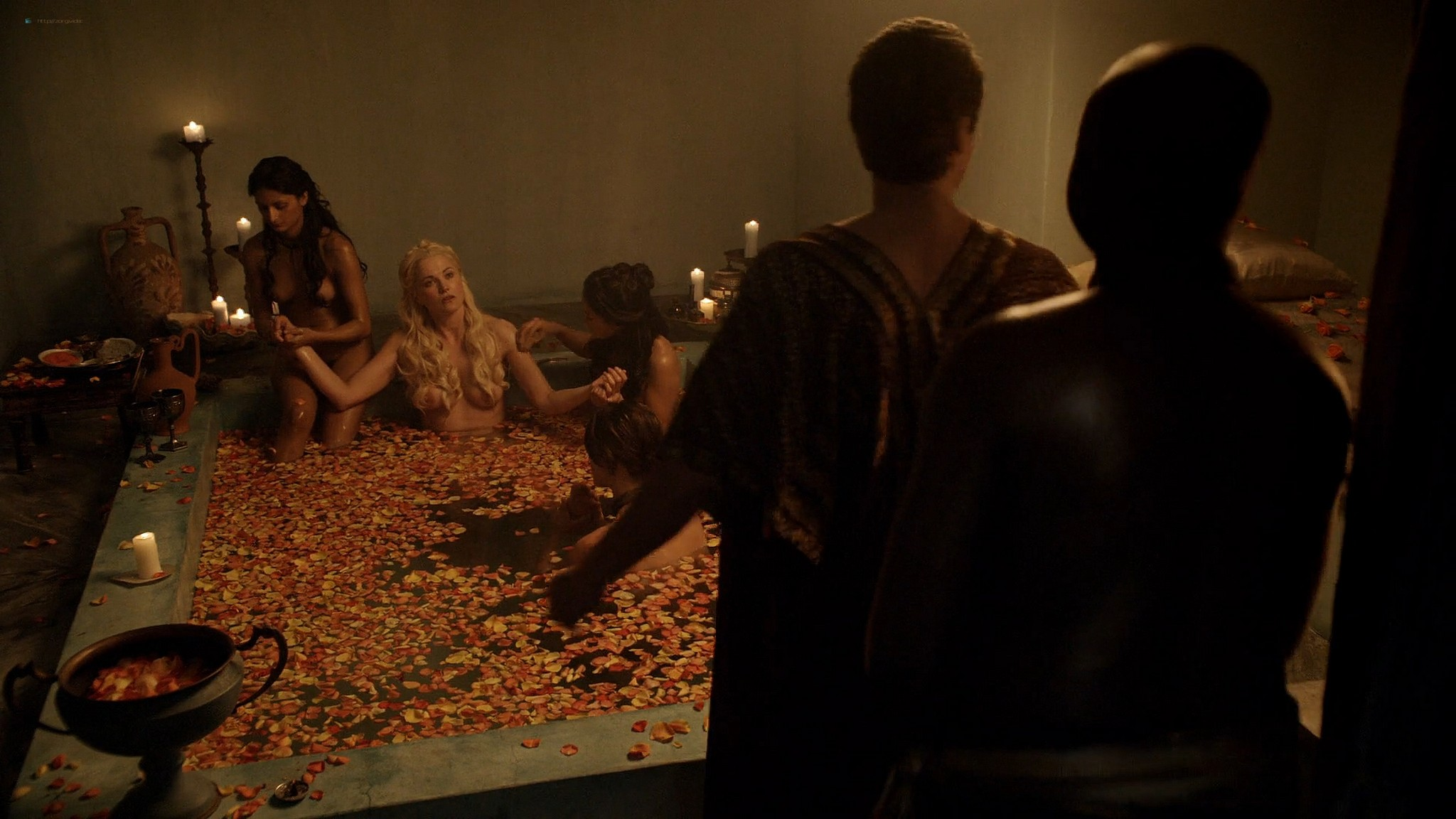 Lucy Lawless nude Lesley-Ann Brandt and other nude sex too - Spartacus (2010) Delicate Things s1e6 HD 1080p BluRay (17)