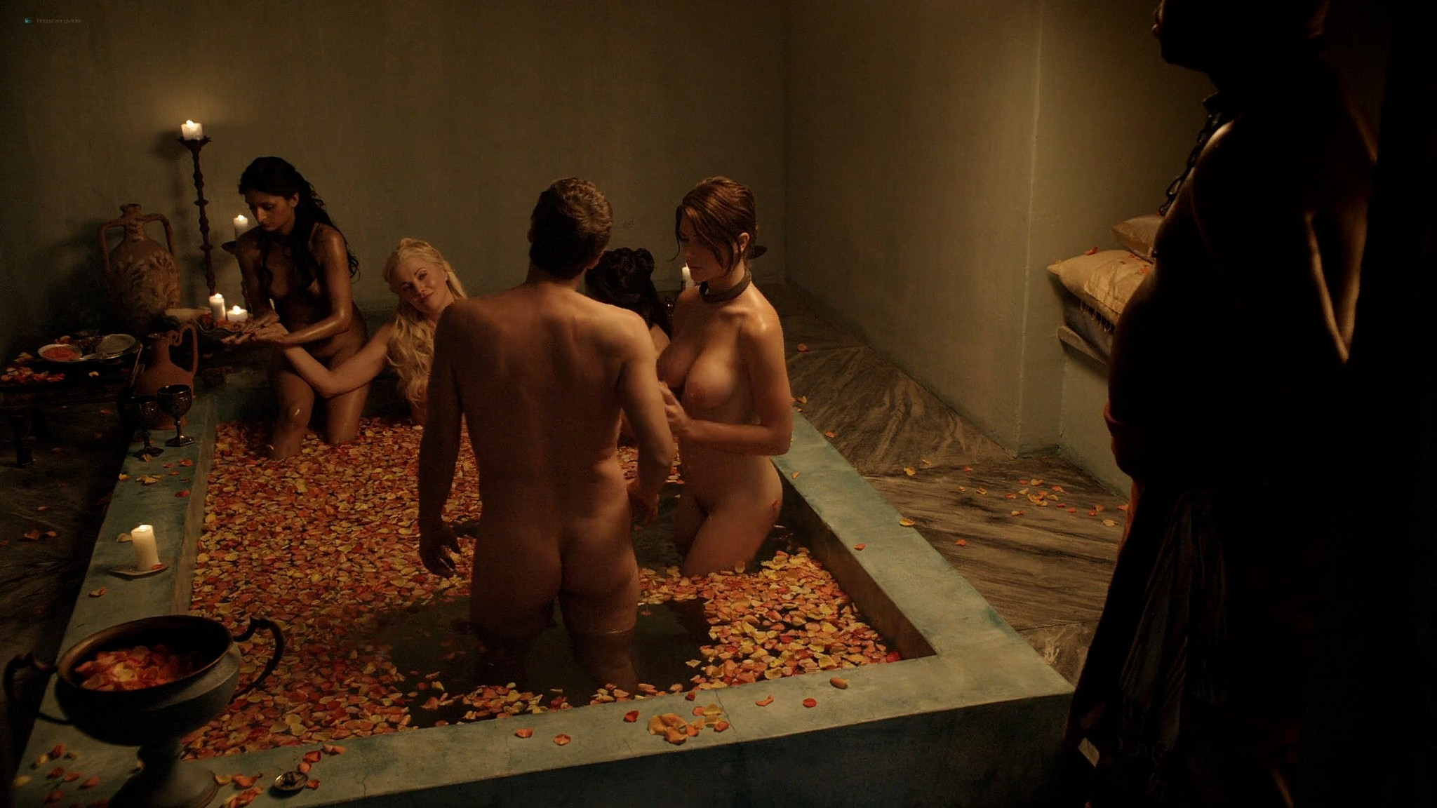 Lucy Lawless nude Lesley-Ann Brandt and other nude sex too - Spartacus (2010) Delicate Things s1e6 HD 1080p BluRay (15)