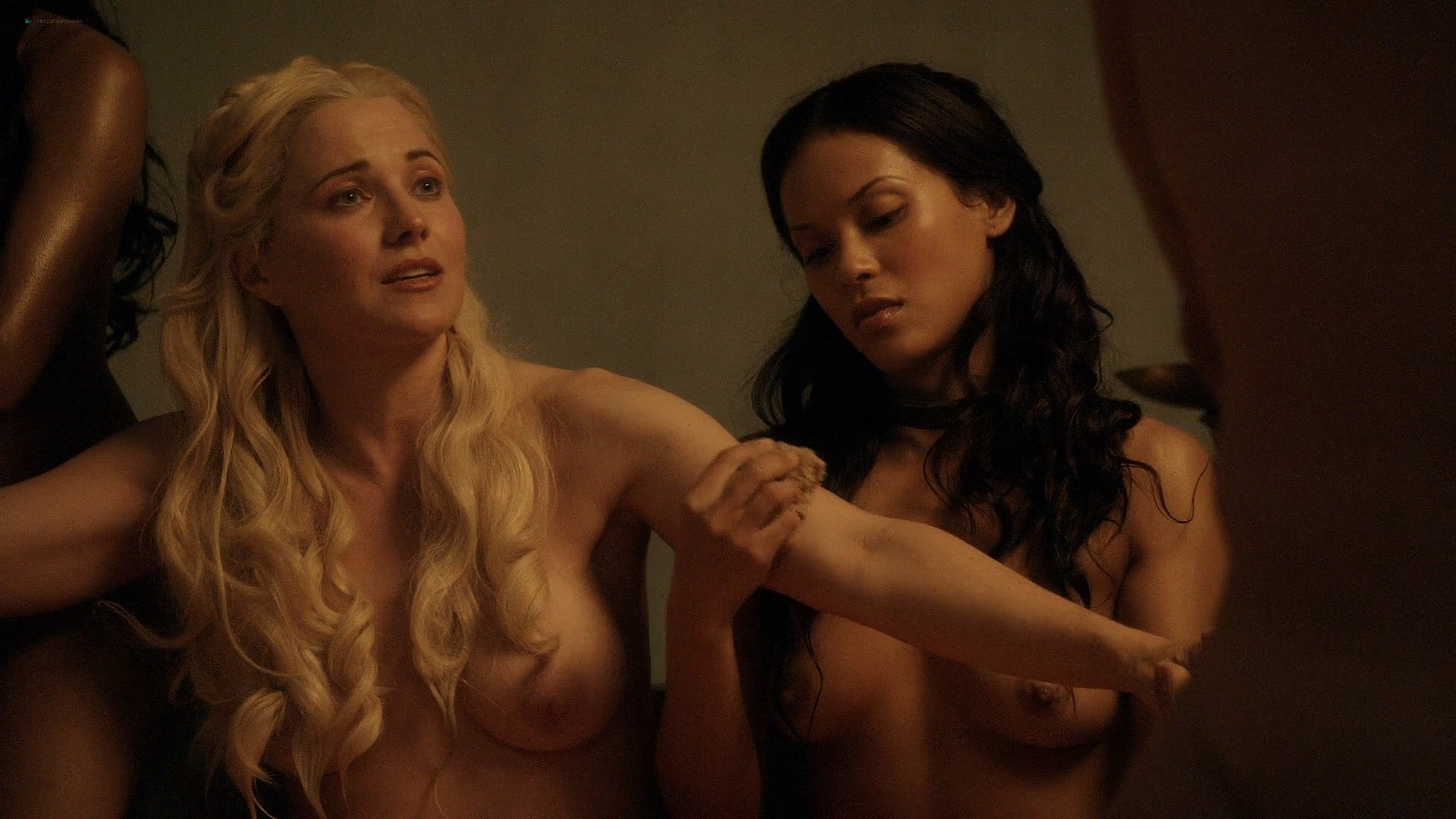 Lucy Lawless nude Lesley-Ann Brandt and other nude sex too - Spartacus (2010) Delicate Things s1e6 HD 1080p BluRay (10)