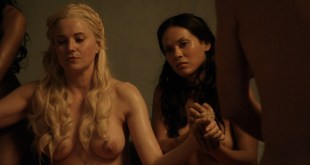 Lucy Lawless nude Lesley-Ann Brandt and other nude sex too - Spartacus (2010) Delicate Things s1e6 HD 1080p BluRay (9)