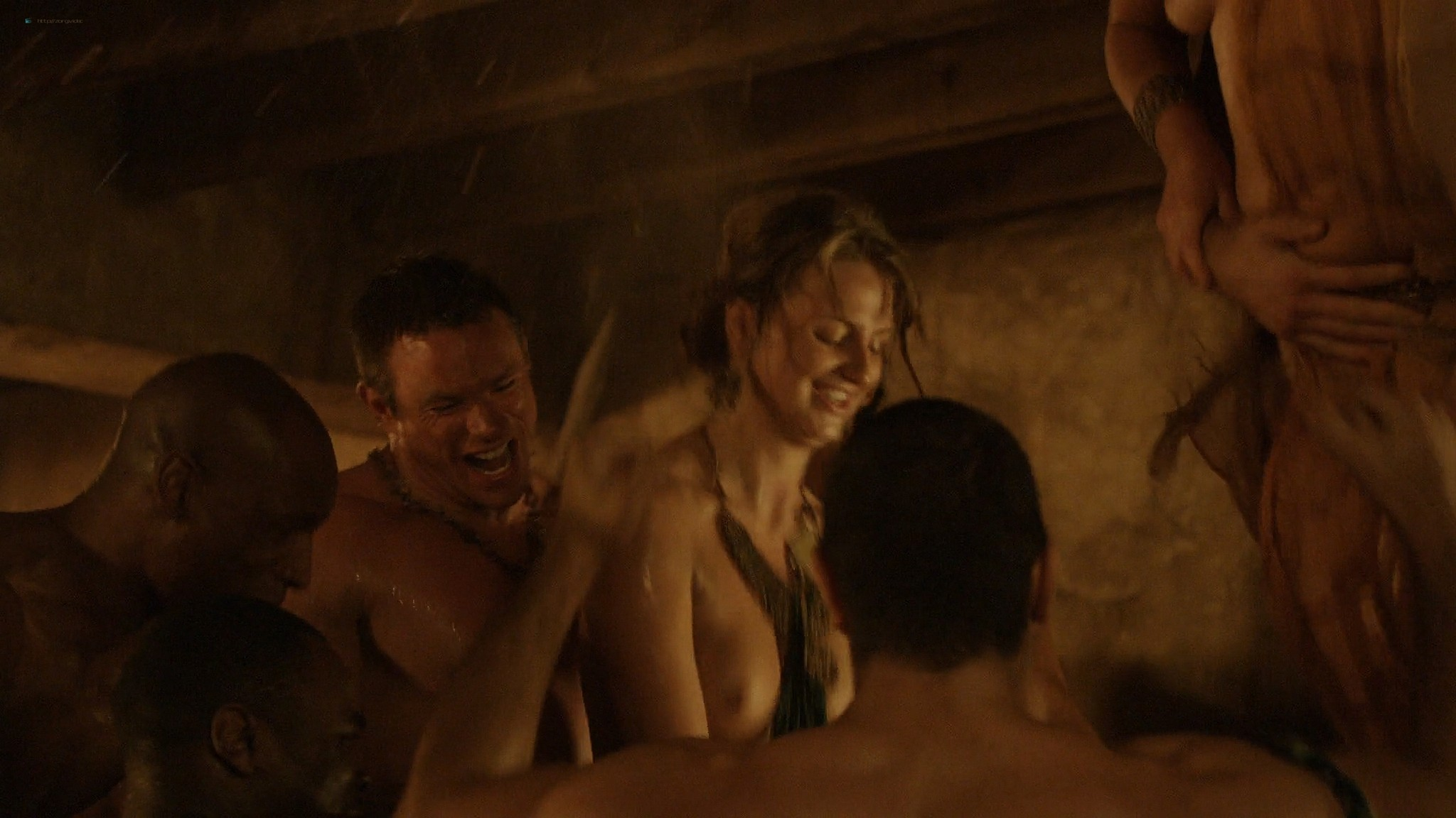 Lucy Lawless nude Lesley-Ann Brandt and other nude sex too - Spartacus (2010) Delicate Things s1e6 HD 1080p BluRay (5)