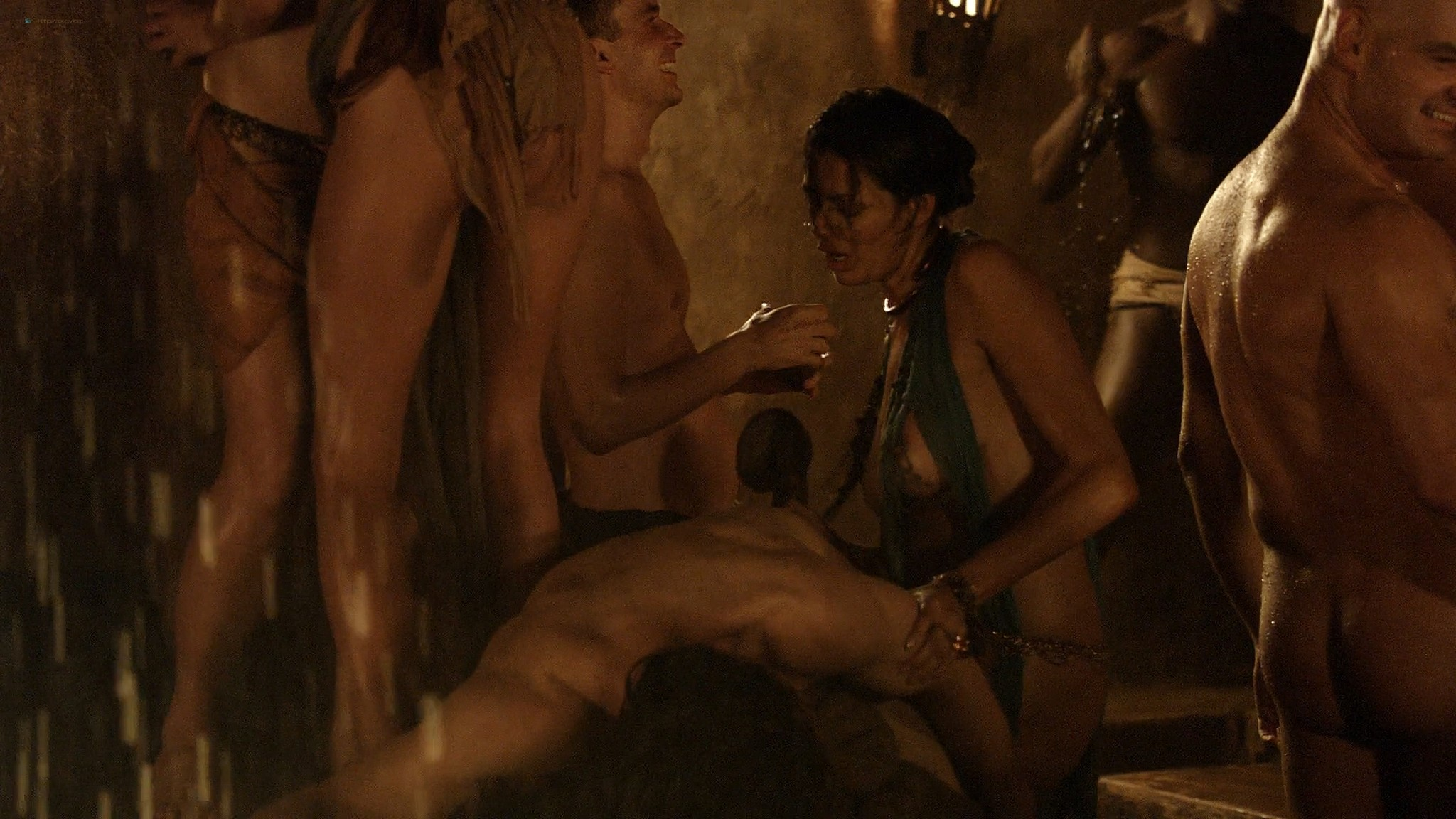 Lucy Lawless nude Lesley-Ann Brandt and other nude sex too - Spartacus (2010) Delicate Things s1e6 HD 1080p BluRay (2)