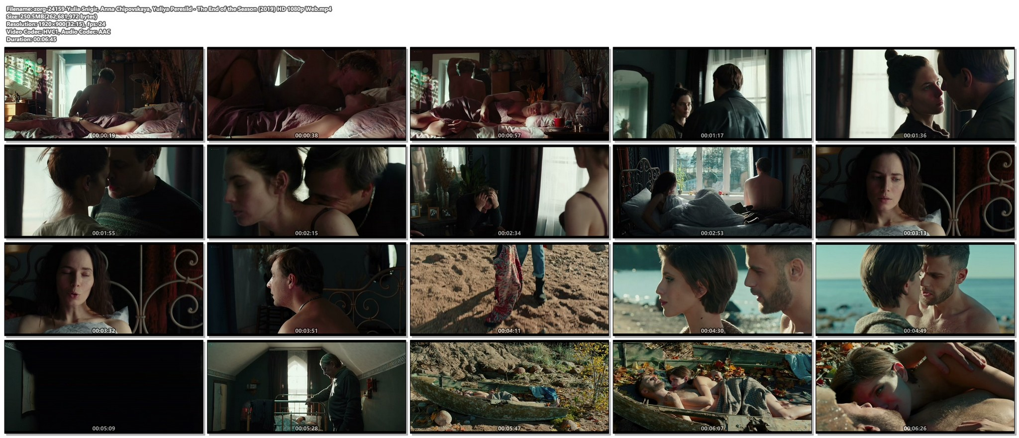 Yulia Snigir hot and some sex Anna Chipovskaya, Yuliya Peresild sexy - The End of the Season (2019) HD 1080p Web (1)