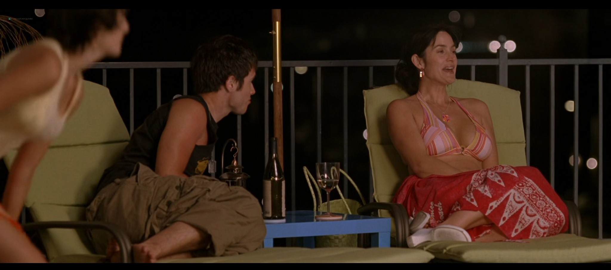 Carrie Anne Moss hot in bikini and Camilla Belle sexy The Chumscrubber 2005 HD 1080p 006