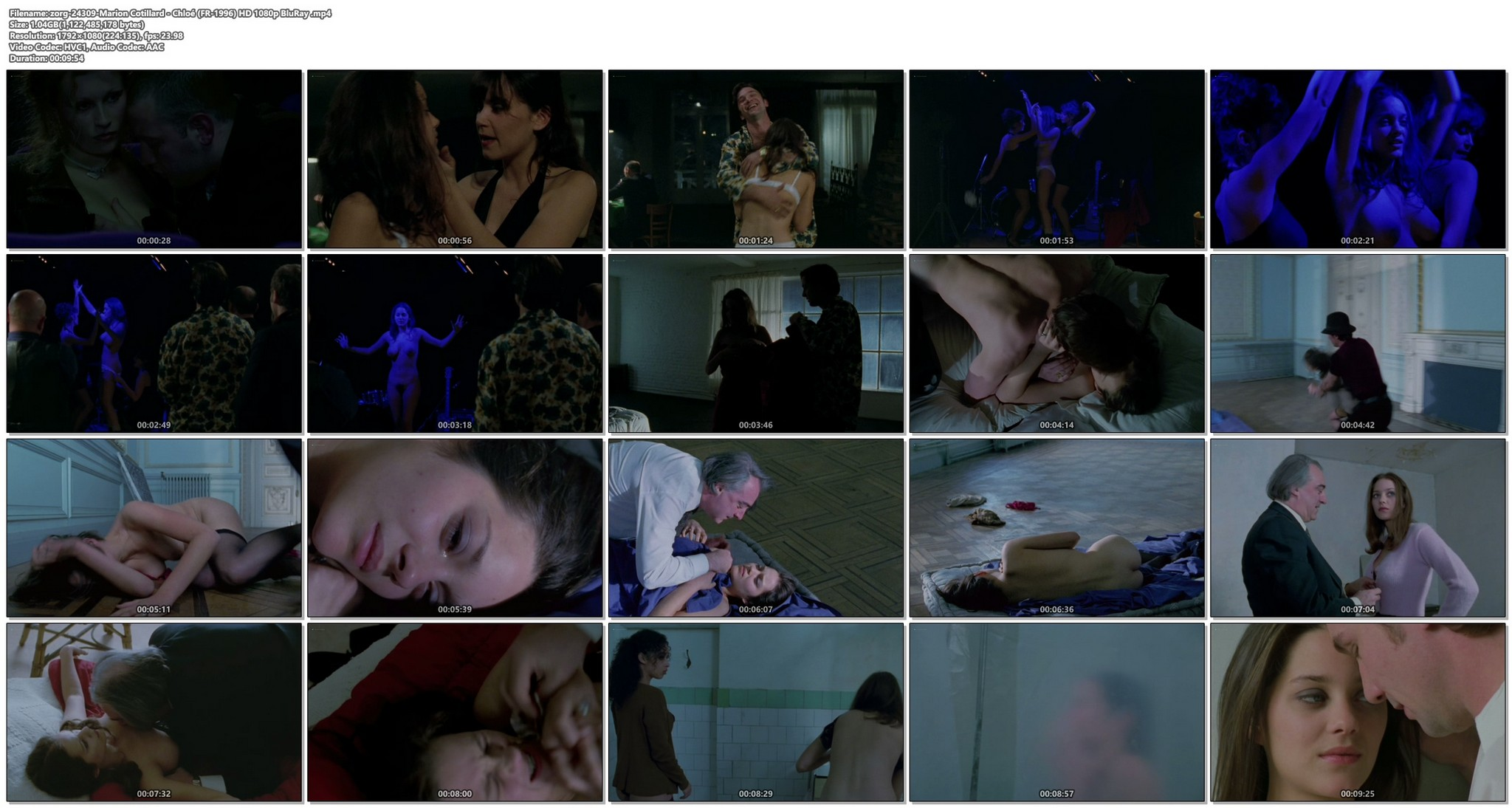Marion Cotillard nude full frontal and sex Chloe FR 1996 HD 1080p BluRay 017