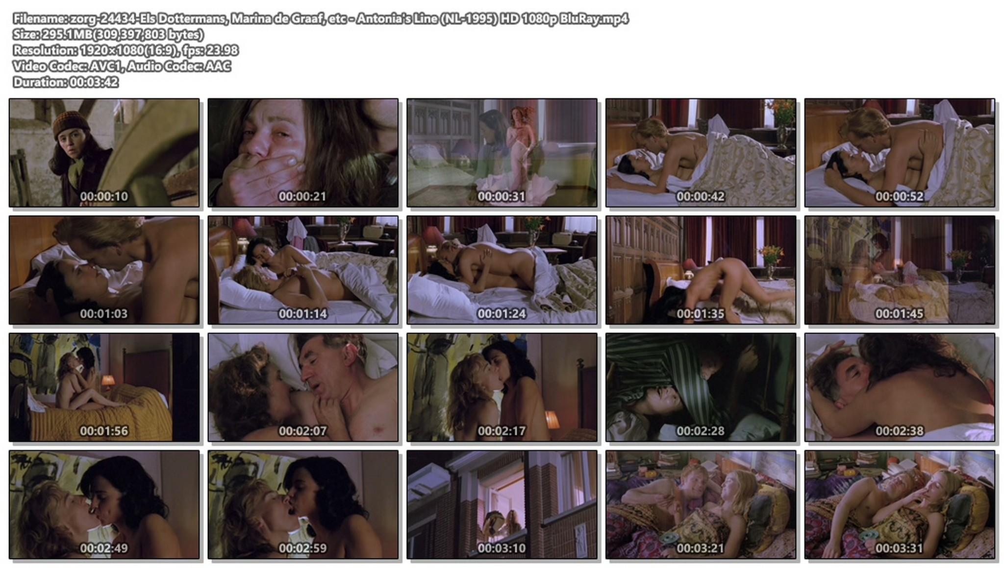Els Dottermans nude bush and sex Marina de Graaf and other nude Antonias Line NL 1995 HD 1080p BluRay 017