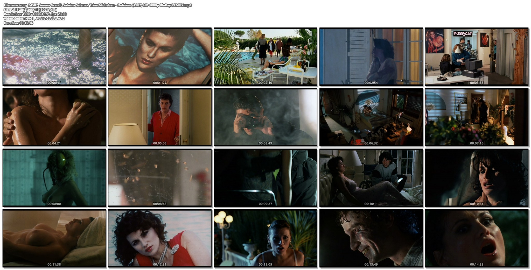 Serena Grandi nude sex Sabrina Salerno Trine Michelsen all nude Delirium 1987 HD 1080p BluRay REMUX 020