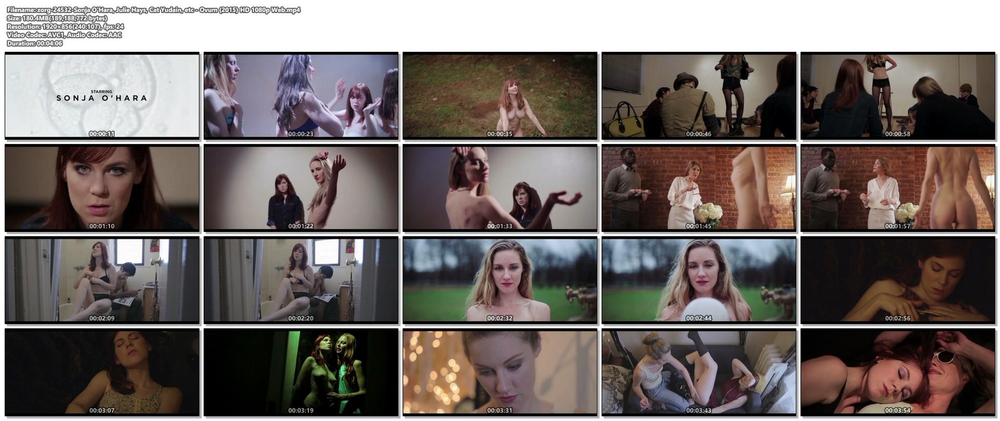 Sonja OHara nude full frontal Julie Hays Cat Yudain nude too Ovum 2015 HD 1080p Web 018