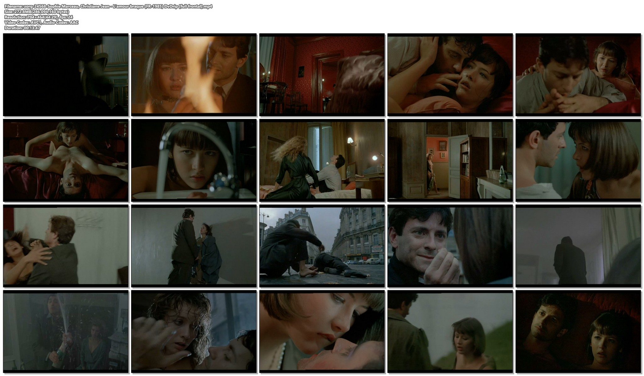 Sophie Marceau nude full frontal Christiane Jean nude too Lamour braque FR 1985 DvDrip 019