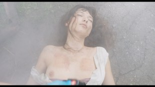 Andrea Tivadar nude topless and sex in the shower - Safe Inside (2019) (2019) HD 1080p Web
