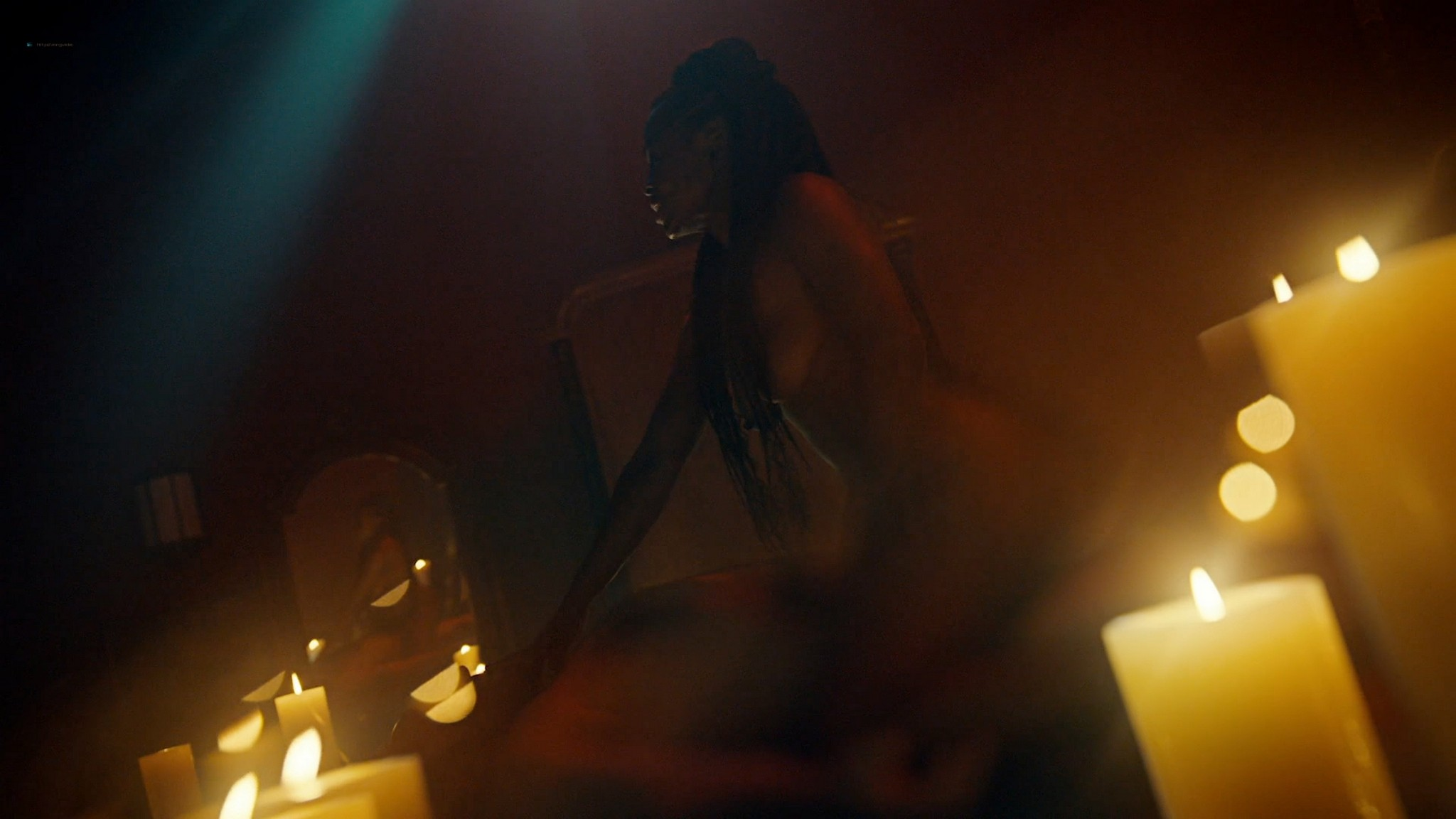 Yetide Badaki nude bush and topless American Gods 2020 s3e2 HD 1080p 04
